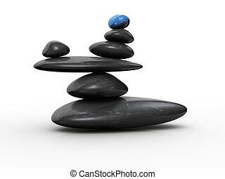 石, バランス