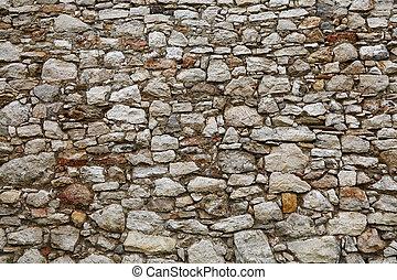 石, 古い, 壁, 層にされる, 城, ∥あるいは∥, 要塞