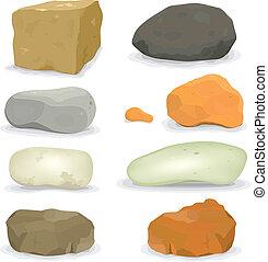 石, 岩, セット