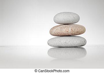 石, 白, 禅