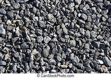 石, 砂利, 混合, 灰色, 手ざわり, コンクリート, アスファルト