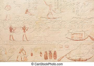 石, 象形文字, 背景, エジプト人