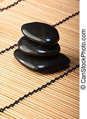 石, (2), 玄武岩, thermotherapy, 山, 黒