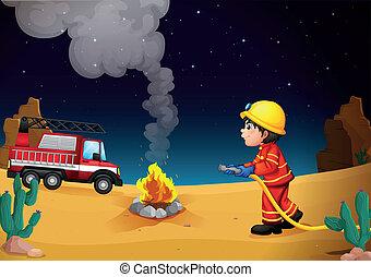 砂漠, 消防士