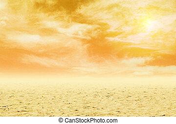 砂, 空, 日没