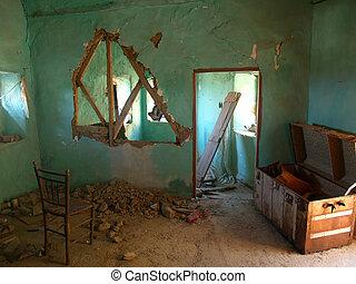 破壊された, 家, 台無しにされる
