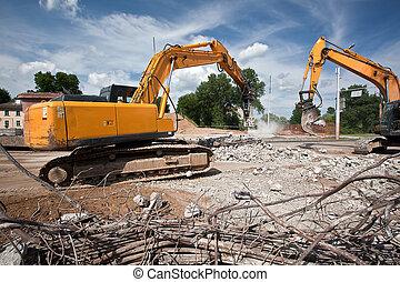 破壊, コンクリート, 補強された