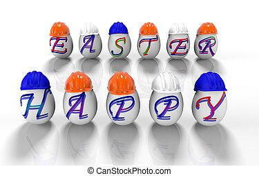 碑文, イースター, render, 卵, -, 3, 幸せなイースター, d