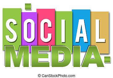 社会, 媒体, カラフルである, 専門家