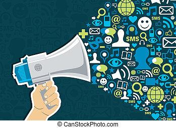 社会, 媒体, マーケティング