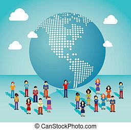 社会, 媒体, 世界的なネットワーク, americas