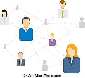 社会, 接続, ネットワーク, ビジネス, /