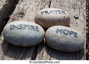 祈とう, 促しなさい, 希望, 岩