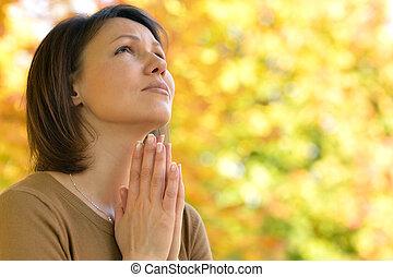 祈ること, 女, 若い