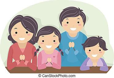 祈ること, 家族