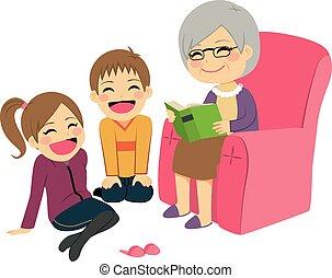 祖母, 物語, 読書