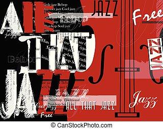 祝祭, ポスター, ジャズ 音楽, 背景, template.
