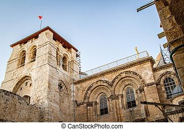 神聖, 鐘, 墓, 教会, タワー, エルサレム