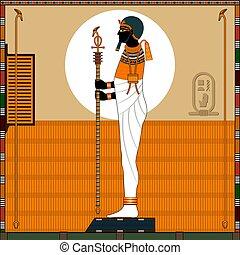 神, ptah., egypt., 宗教, 古代