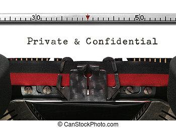私用, 機密, タイプライター
