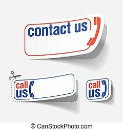 私達に連絡しなさい, ラベル
