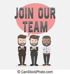 私達の, 参加しなさい, ビジネス チーム