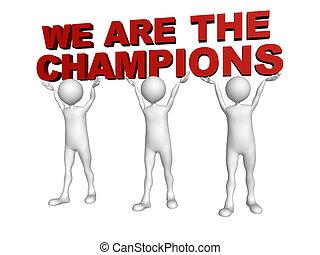 私達, 参加しなさい, 力, 男性, 3, リフト, 言葉, チャンピオン