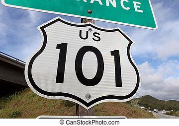 私達, 高速道路の印, 入口, 101