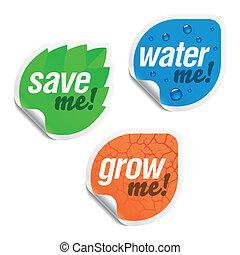 私, 私, 水, を除けば, ステッカー, 成長しなさい