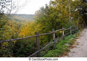 秋, 光景, イタリア, umbria, 自然
