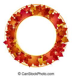 秋, 旗, leaves.