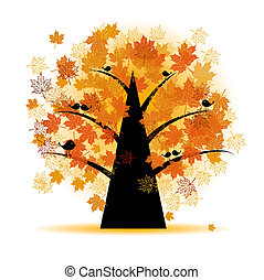 秋, 木, 葉, かえで, 秋