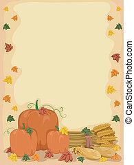 秋, 背景, カボチャ