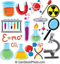 科学, セット, 原料