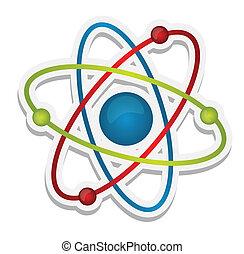 科学, 抽象的, アイコン, 原子