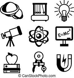 科学, 物理学, アイコン