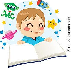 科学, 男の子の読書, 本, フィクション