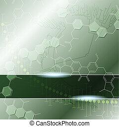 科学, 緑の背景