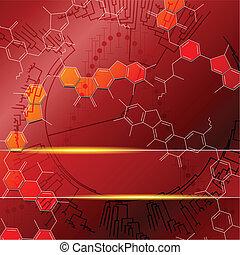 科学, 赤い背景