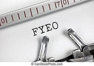 秘密, 手紙, セキュリティー, 分類された, インフォメーション, タイプライター, 概念, 機密, 秘密, 敏感, 上, レトロ, ブレティン, 比喩, タイプされる, 省略, プライバシー, 詳しい, 打撃, スタジオ, 横, newsletter, fyeo, 目, 頭字語, 機密性, initialism, テキスト, オペレーション, (opsec), 大きい, 情報, クローズアップ, ∥たった∥, 文書, 通知, クローズアップ, マクロ, あなたの, メッセージ
