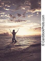 称賛すること, 女, 海洋