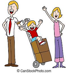 移動の日, 家族