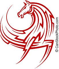 種族, 強力, 馬, 赤