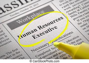 空き, 経営者, 資源, 人間, 新聞。