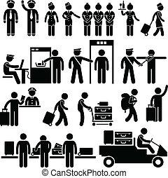 空港, 労働者, セキュリティー