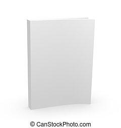 空白の本, カバー, 空, 3d