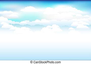 空, ベクトル, 雲, 青