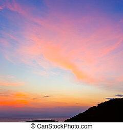 空, 日没, カラフルである