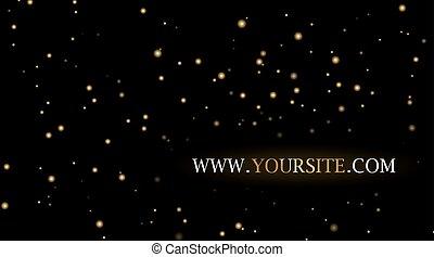 空, 星, 背景, 夜