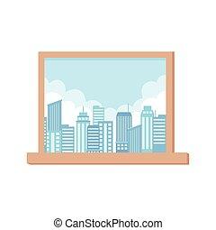 窓の眺め, 都市